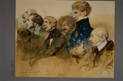 Groupe d'auditeurs au Conservatoire ou Première audition de la symphonie en la de Beethoven | Lami, Eugène